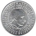 Foto de 2005-G ALEMANIA 10 EUROS SCHILLER F.