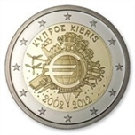 Foto de 2012 CHIPRE 2 EUROS X Aniv. Entrada EURO