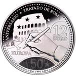 Foto de 2007 ESPAÑA 12 EUROS TRATADO ROMA S/C