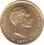 Foto de 1877*1877 ALFONSO XII 25 PTAS DEM
