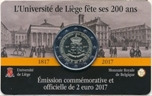 Foto de 2017 BELGICA 2 EUROS UNIVERSIDAD LIEJA