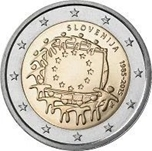 Foto de 2015 ESLOVENIA 2 EUROS BANDERA EUROPEA