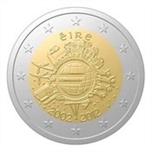 Foto de 2012 IRLANDA 2 EUROS X Aniv. CIRCULACION EURO
