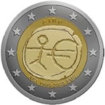 Foto de 2009 IRLANDA 2 EUROS 10º Aniv.EMU