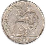 Foto de 1933-34 II REPUBLICA 1 PESETA. Ord.Cat.70