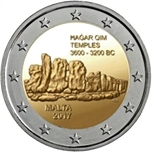 Foto de 2017 MALTA 2 EUROS TEMPLO HAGAR QIM