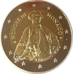 Foto de 2020 MONACO 2 EUROS PRINCIPE HONORE III