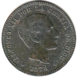 Foto de 1878 ALF.XII 5 CTMOS. BARCELONA. Ord.Cat.10