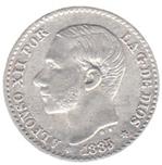 Foto de 1885*8-6 AL.XII 50 CENTIMOS MS M. Ord.Cat.13