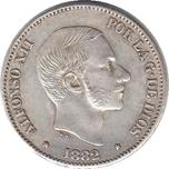 Foto de 1882 AL.XII 50 CENTAVOS DE PESO MANILA. Ord.Cat.19