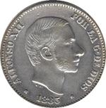 Foto de 1885 AL.XII 50 CENTAVOS DE PESO MANILA. Ord.Cat.20