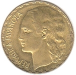 Foto de 1937 II REPUBLICA 1 PESETA laton. Ord.Cat.72