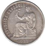 Foto de 1933*34 II REPUBLICA 1 PESETA. Ord.Cat.75