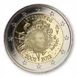 Foto de 2012 LUXEMBURGO 2 EUROS X Aniv. CIRCULACION EURO