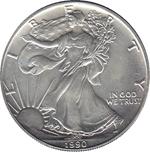 Foto de 1990 USA 1$ LIBERTAD ANDANDO PLATA