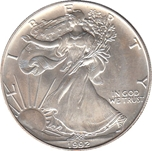 Foto de 1992 USA 1$ LIBERTAD ANDANDO PLATA