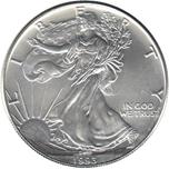 Foto de 1993 USA 1$ LIBERTAD ANDANDO PLATA