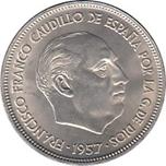 Foto de 1957*65 ESPAÑA 25 PESETAS