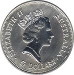 Foto de 1990 AUSTRALIA 5$ 1oz P KOOKAB