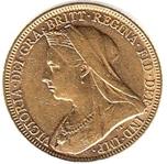 Foto de 1896-M AUSTRALIA SOBERANO - 1 LIBRA VICTORIA