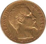 Foto de 1854 FRANCIA 20 FRANCOS NAPOLEON III ORO