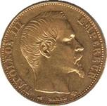 Foto de 1856 FRANCIA 20 FRANCOS NAPOLEON III ORO