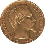 Foto de 1858 FRANCIA 20 FRANCOS NAPOLEON II Au