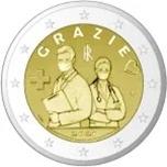 Foto de 2021 ITALIA 2 EUROS GRACIAS SANITARIOS
