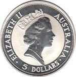 Foto de 1991 AUSTRALIA 5$ P KOOKABURRA