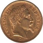 Foto de 1861 FRANCIA 20 FRANCOS NAPOLEON III AU