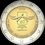 Foto de 2008 BELGICA 2 EUROS DERECHOS HUMANOS